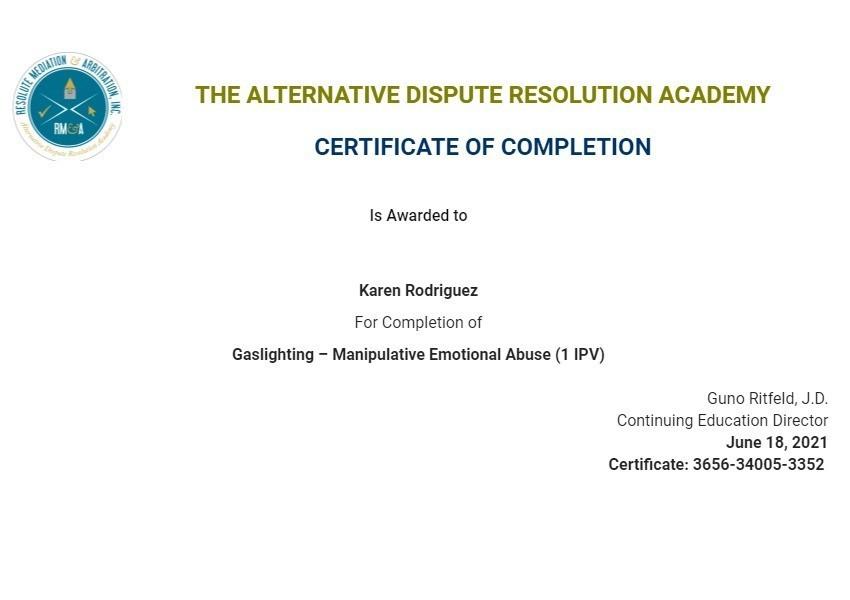 Certificate for User Karen Rodriguez